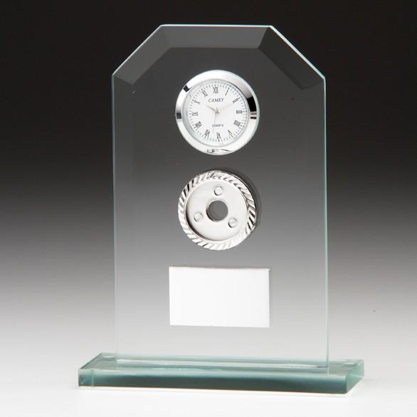 Vitoria Jade Crystal Clock 160mm