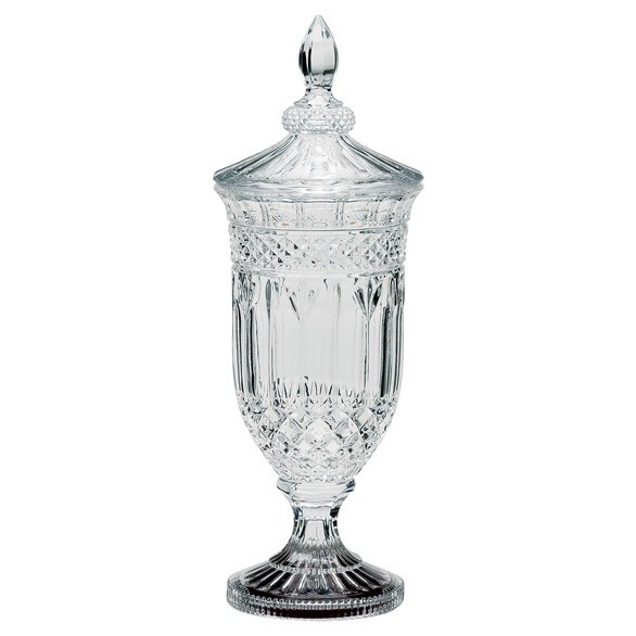 Lindisfarne St George Crystal Vase & Lid 450mm
