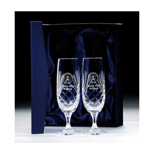 Lindisfarne Orco Crystal Double Flute 280mm
