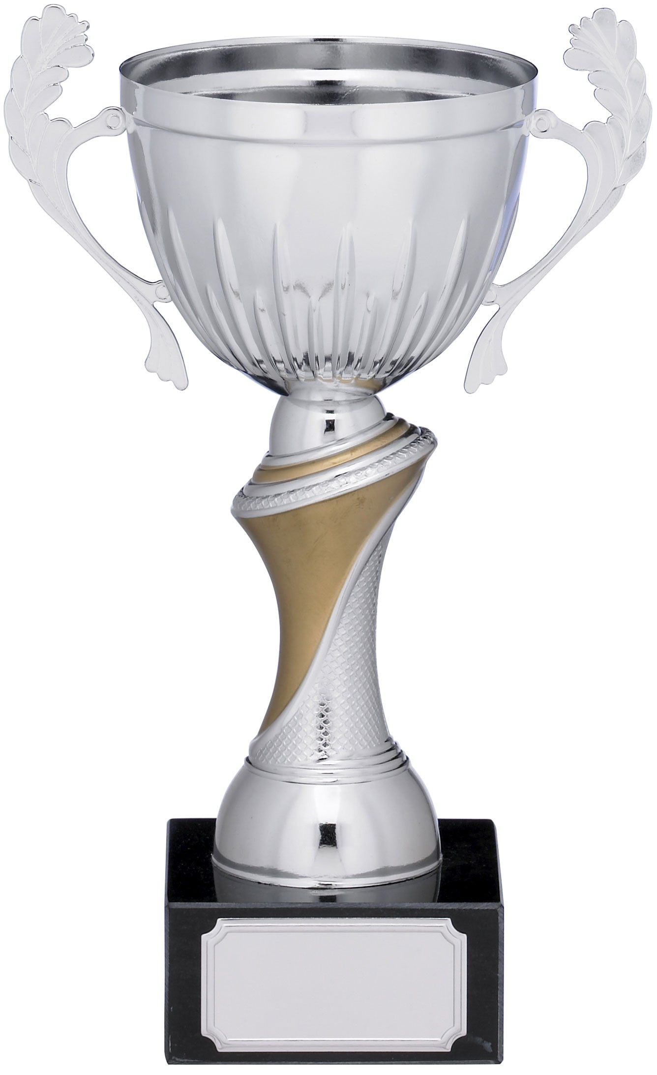 Silver Cup Trophy With Handles - 19cm