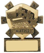 8cm Maths Mini Shield