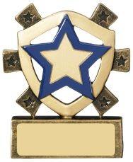 8cm Blue Star Mini Shield