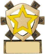 8cm Yellow Star Mini Shield