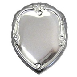 36mm Patterned Silver Side Shield
