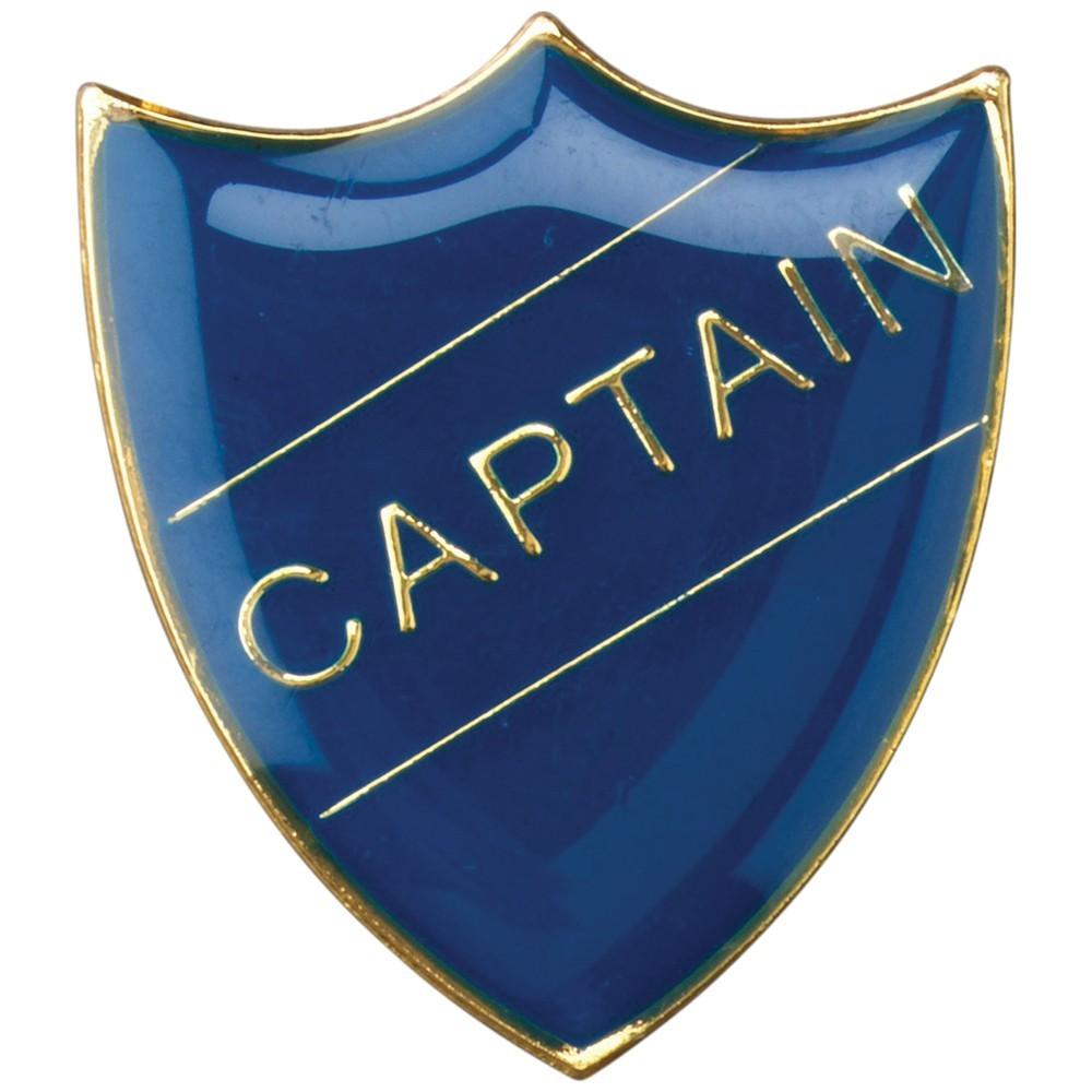 3cm School Shield Badge (Captain) - Blue 1.25In