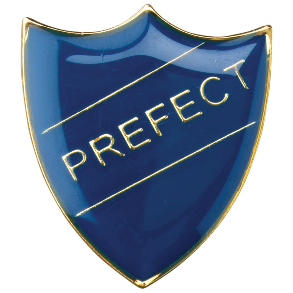 3cm School Shield Badge (Prefect) - Blue 1.25In