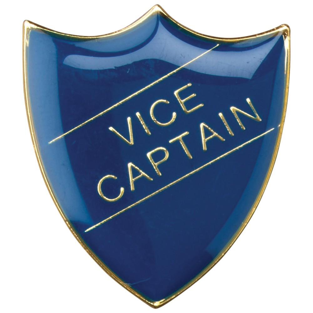 3cm School Shield Badge (Vice Captain) - Blue 1.25In