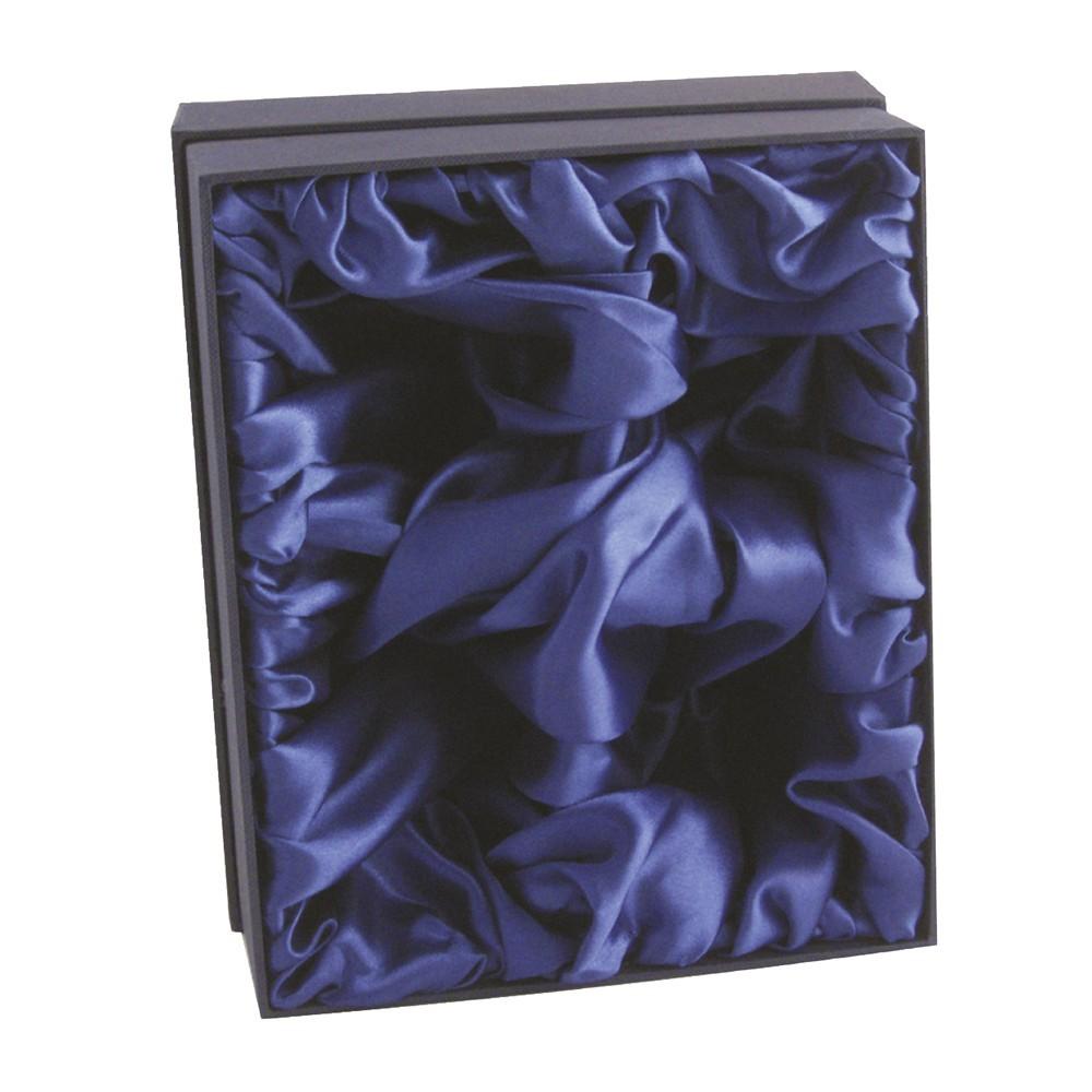 Luxury Blue Whisky Glass Presentation Box - Fits 2 Whiskey