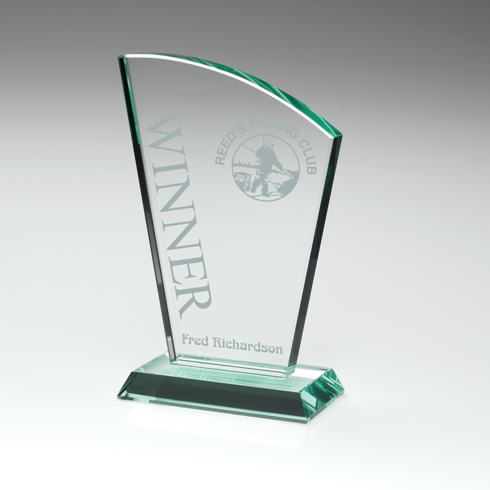 15.5cm Jade Glass Sail Plaque (15mm Thick)