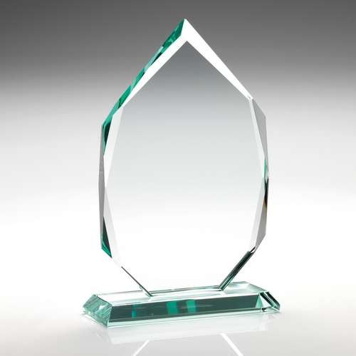 25.5cm Jade Glass Diamond In Quality Wooden Box (19mm Thick)