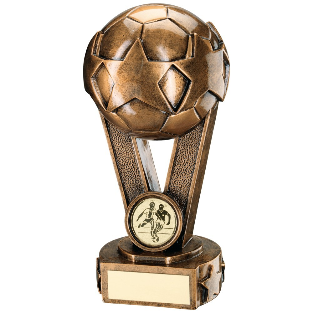Bronze And Gold Star Football On V Trophy