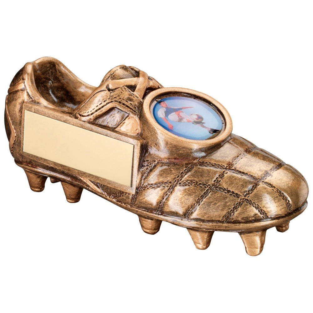11.5cm Bronze & Gold Football Boot Trophy - 4.5 X