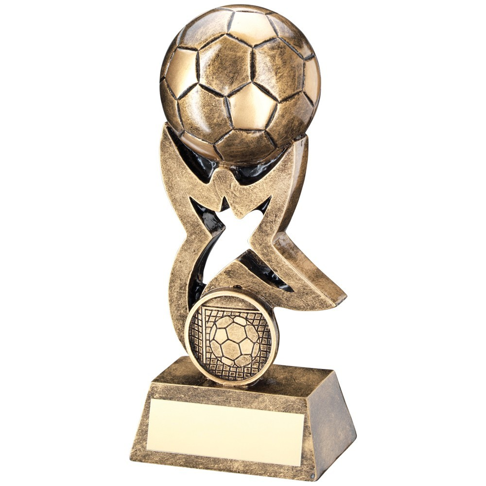 Bronze And Gold Football On Star Riser Trophy