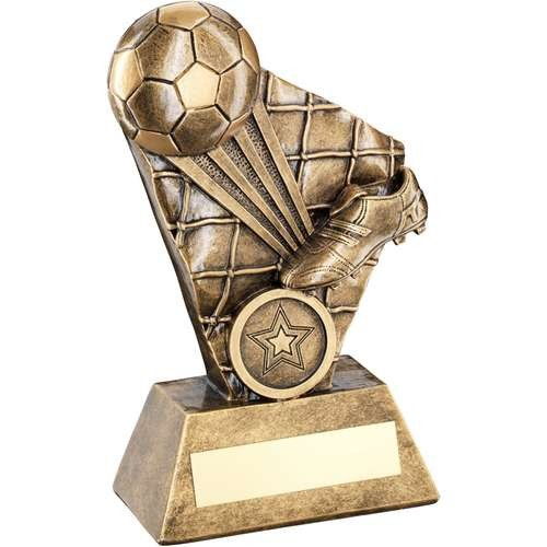 Brz/Gold Football/Boot Strike Series Trophy - Available in 3 Sizes