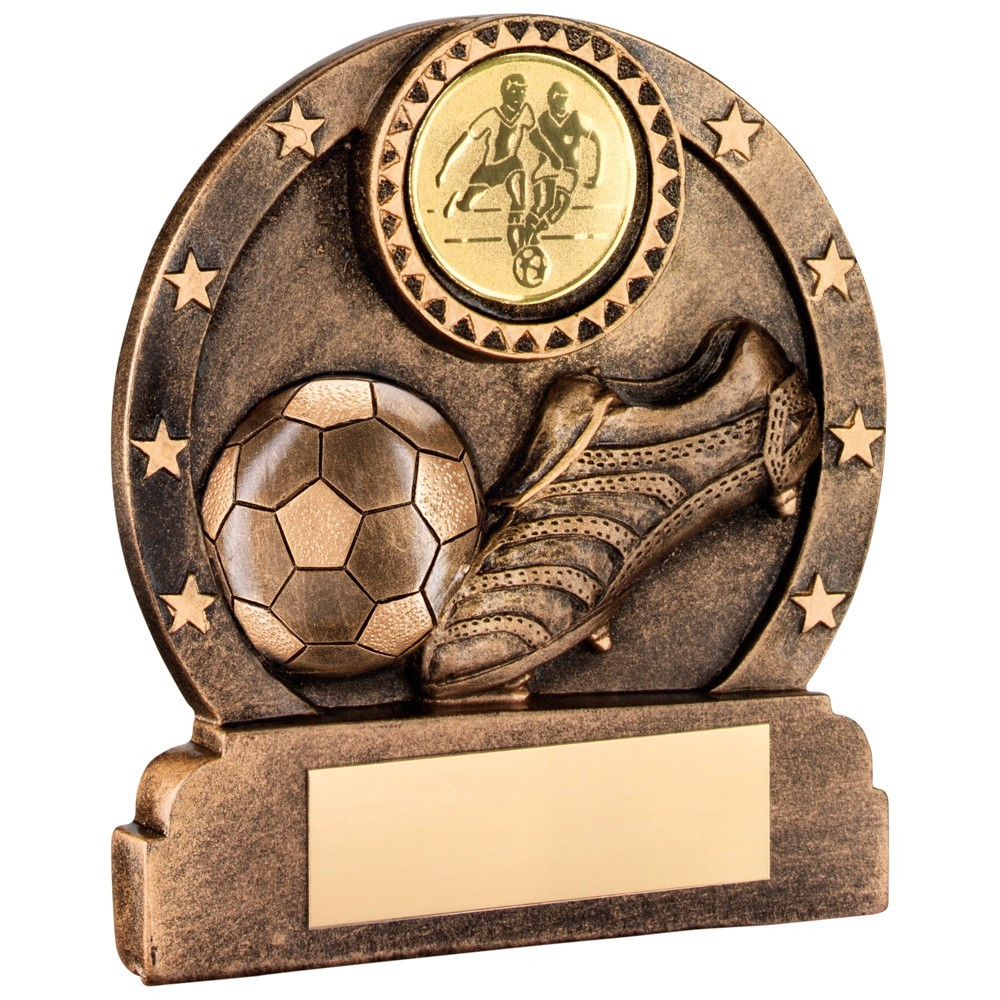 Bronze And Gold Resin Football Trophy