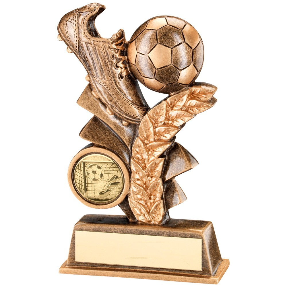 Bronze And Gold Football Leaf Plaque Trophy