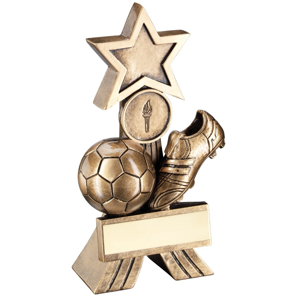 Bronze And Gold Football Shooting Star Trophy