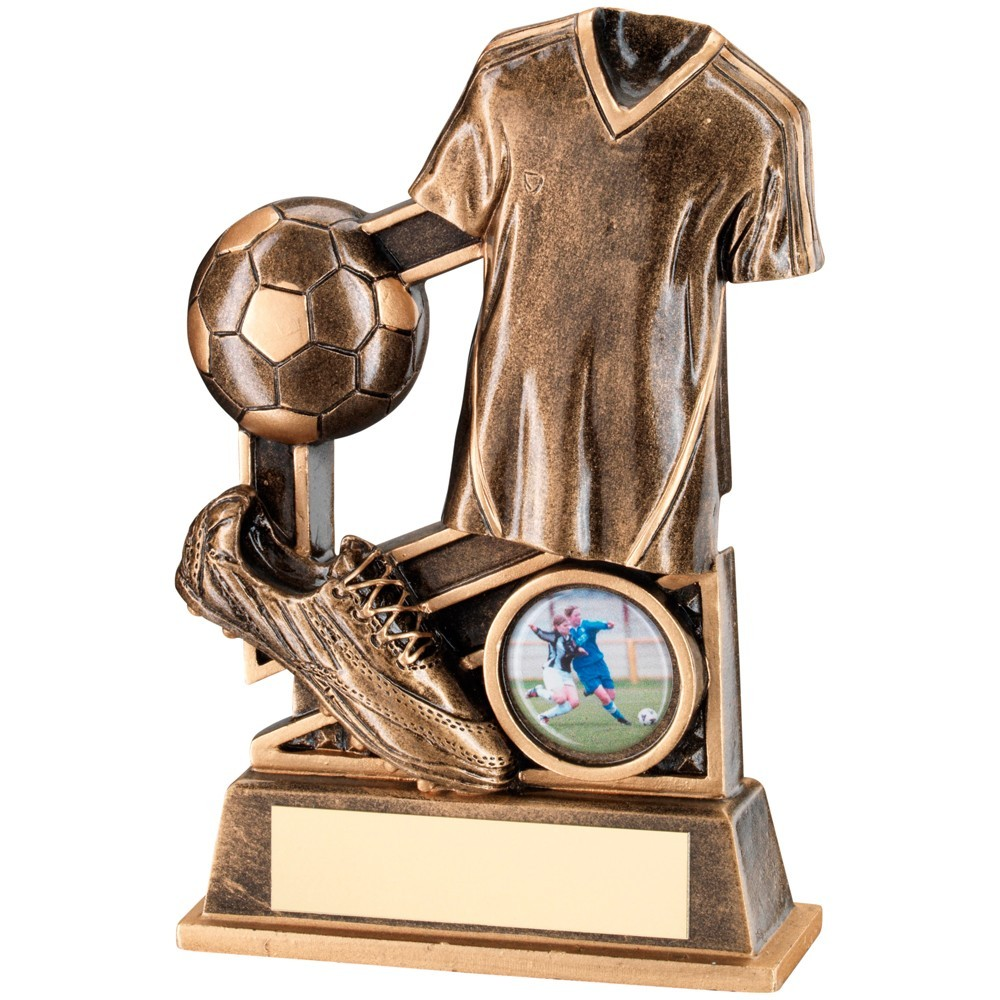 Bronze And Gold Football Diamond Series Trophy