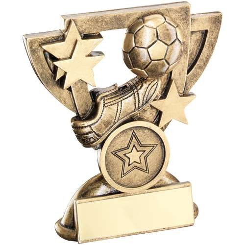 Brz/Gold Football Mini Cup Trophy - Available in 2 Sizes