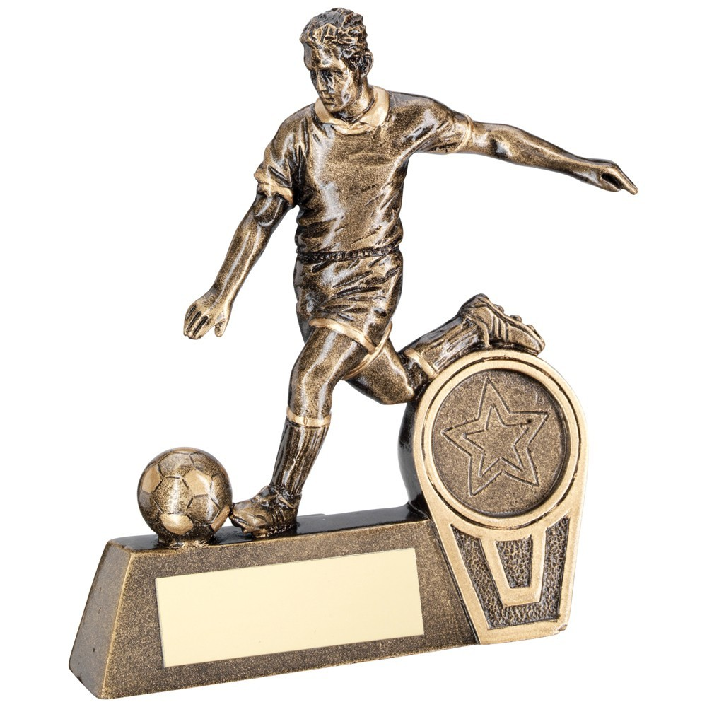 10.5cm Bronze & Gold Mini Male Football Figure Trophy