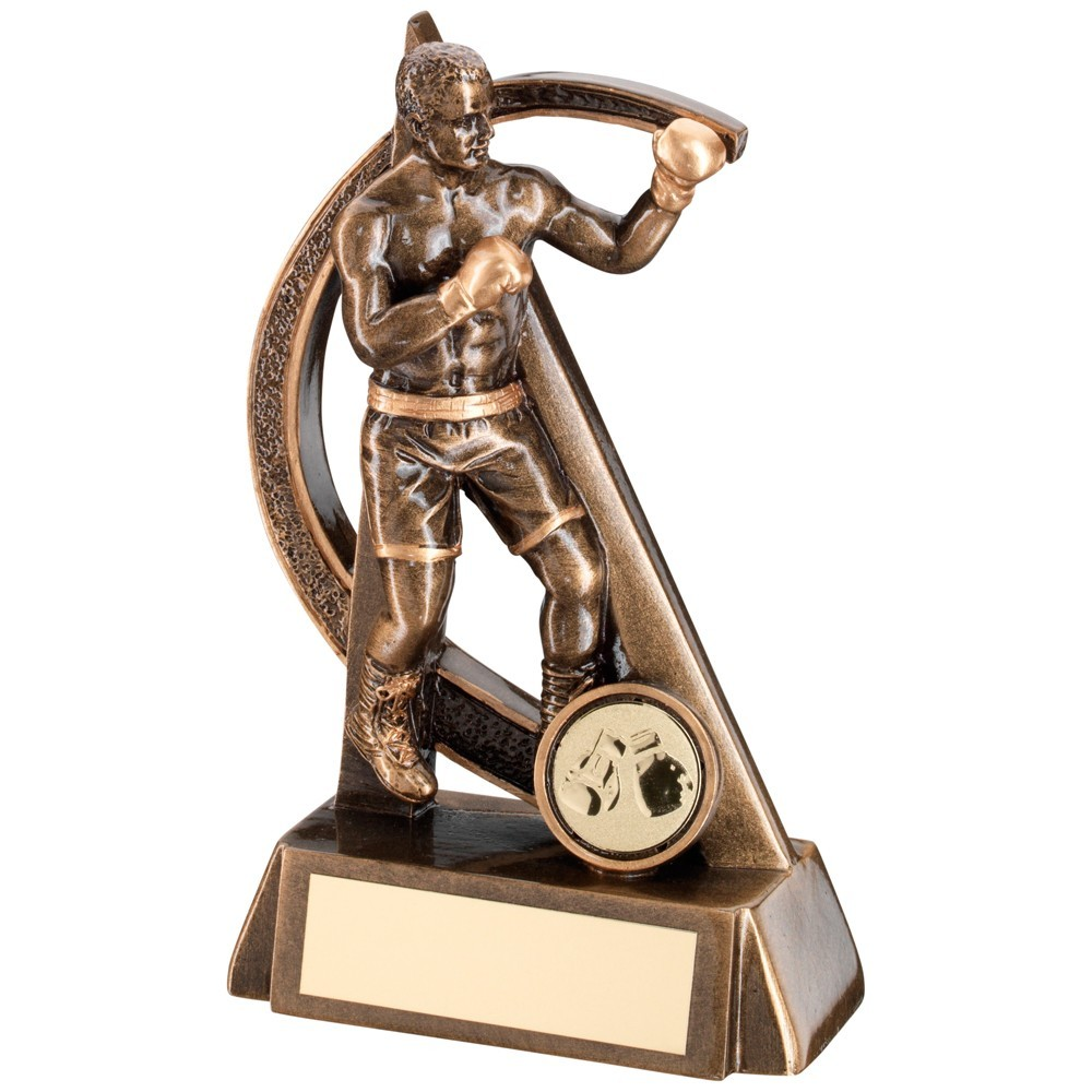 Bronze And Gold Boxing Geo Figure Trophy