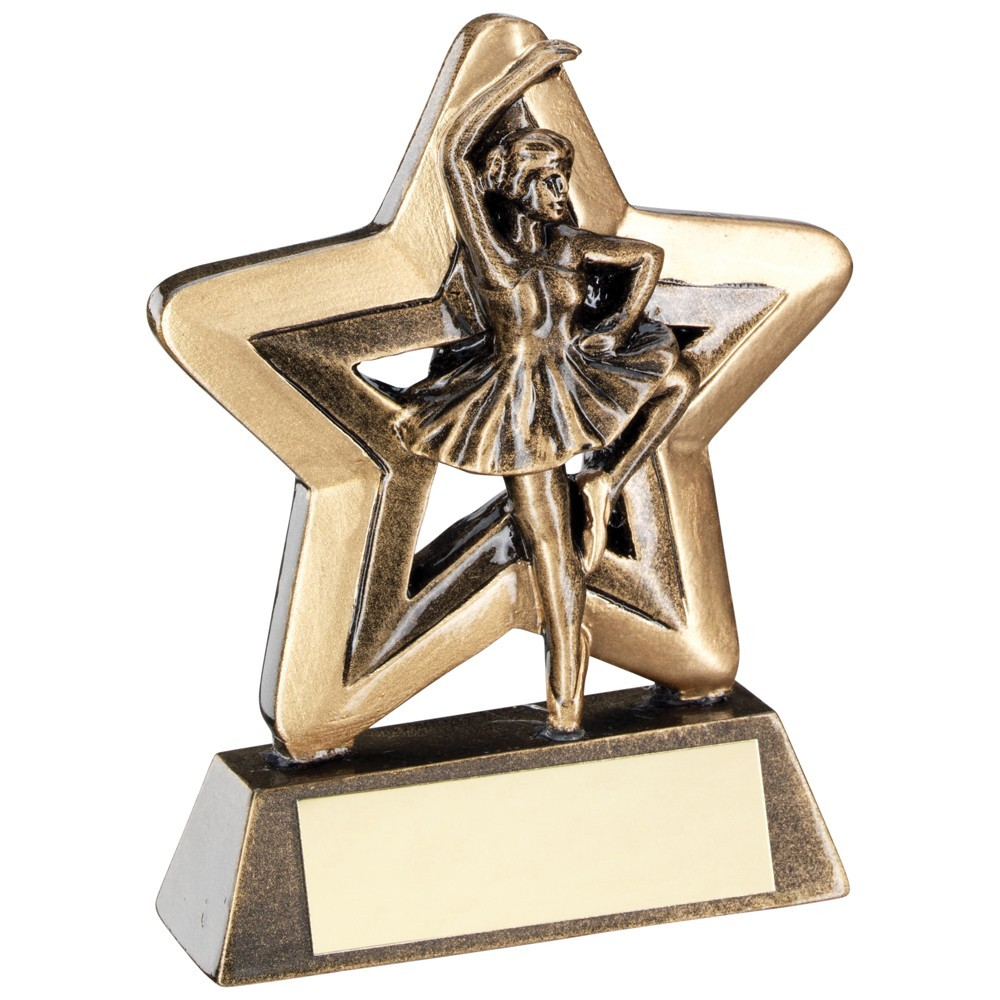 9.5cm Bronze & Gold Ballet Mini Star Trophy
