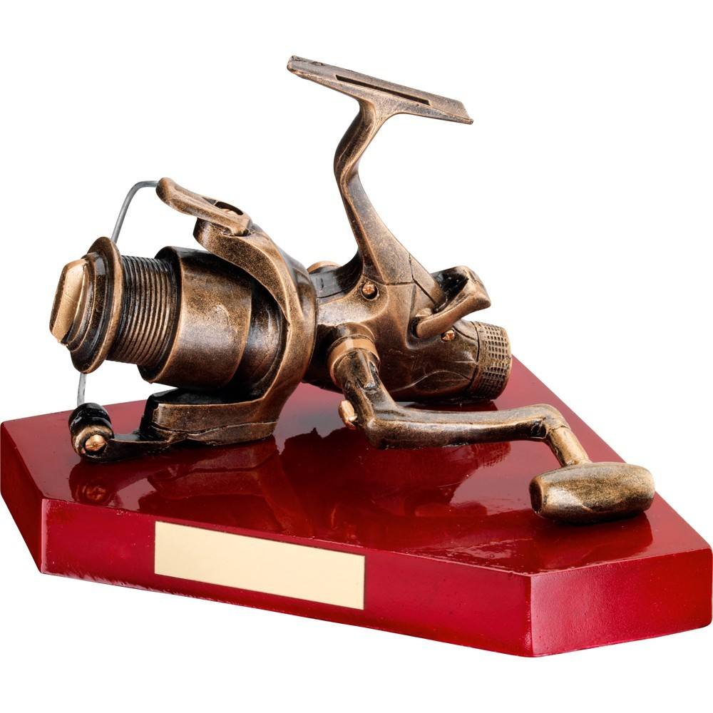 Fabulous Full Size Fishing Reel Replica Resin Award - Available in one size only