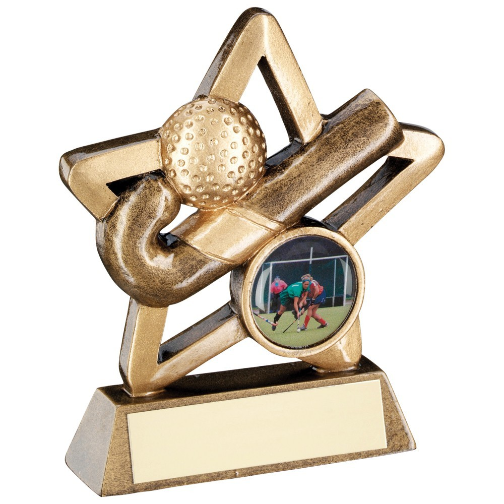 9.5cm Bronze & Gold Hockey Mini Star Trophy