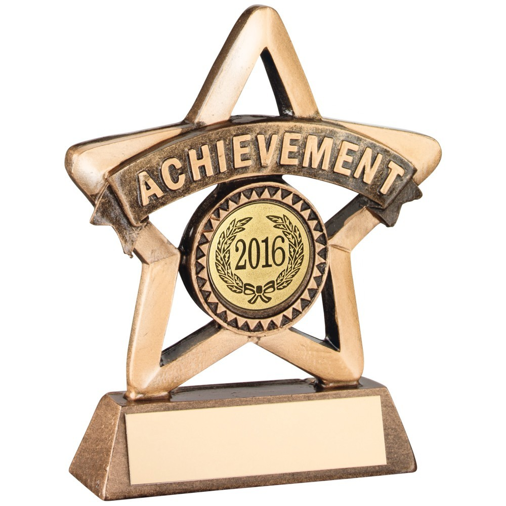 Bronze & Gold Resin 'Achievement' Mini Star Trophy