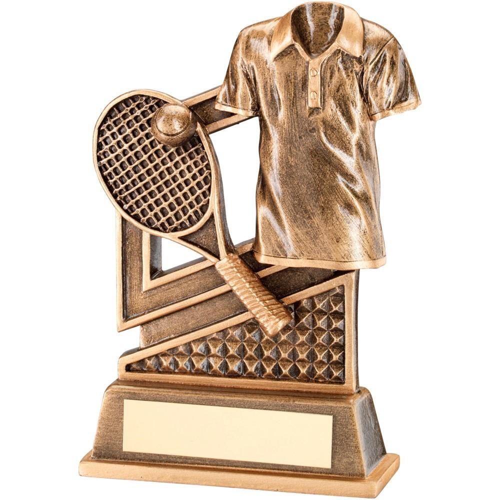 Bronze And Gold Tennis Diamond Series Trophy