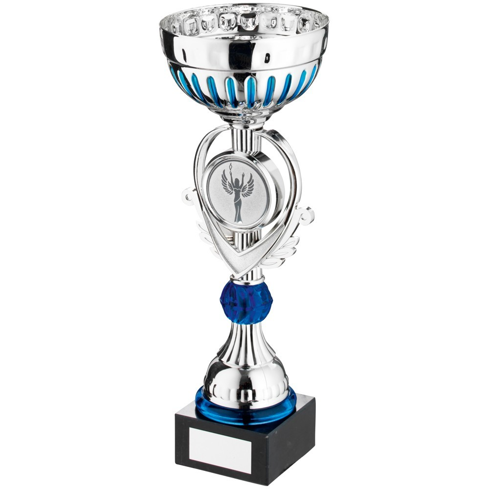 Silver And Blue Bowl Trophy