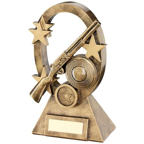 16cm Brz/Gold Shooting Oval/Stars Series Trophy
