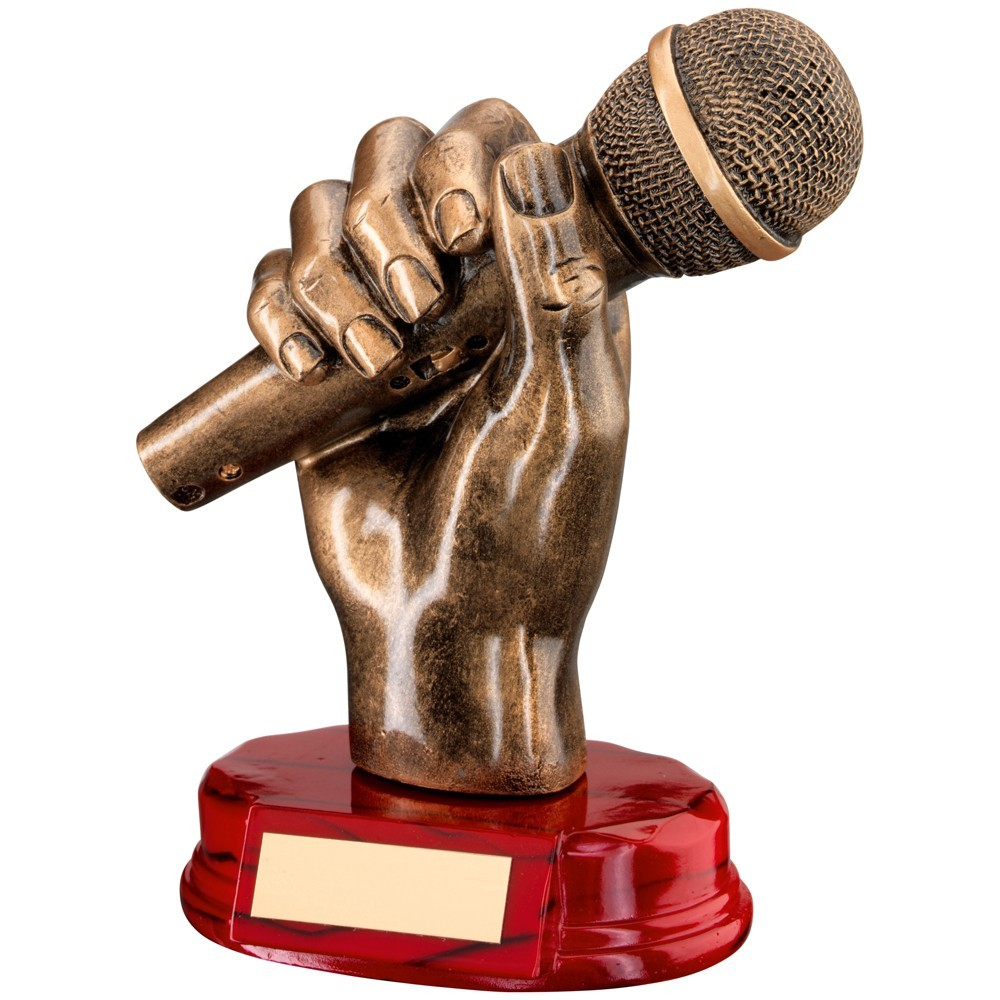Stunning Microphone Resin Award - Available in one size only