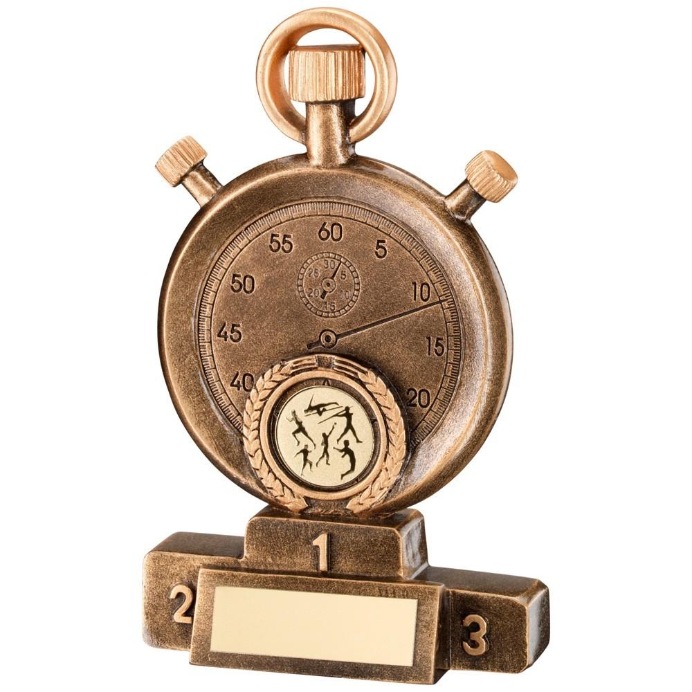 Antique Gold Resin Stopwatch Award