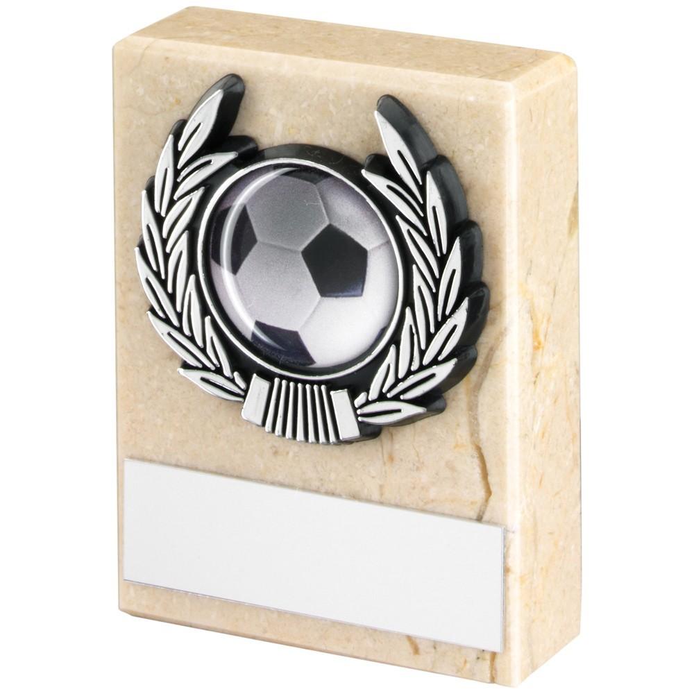 7.5cm Cream Marble+Silver Trim Trophy