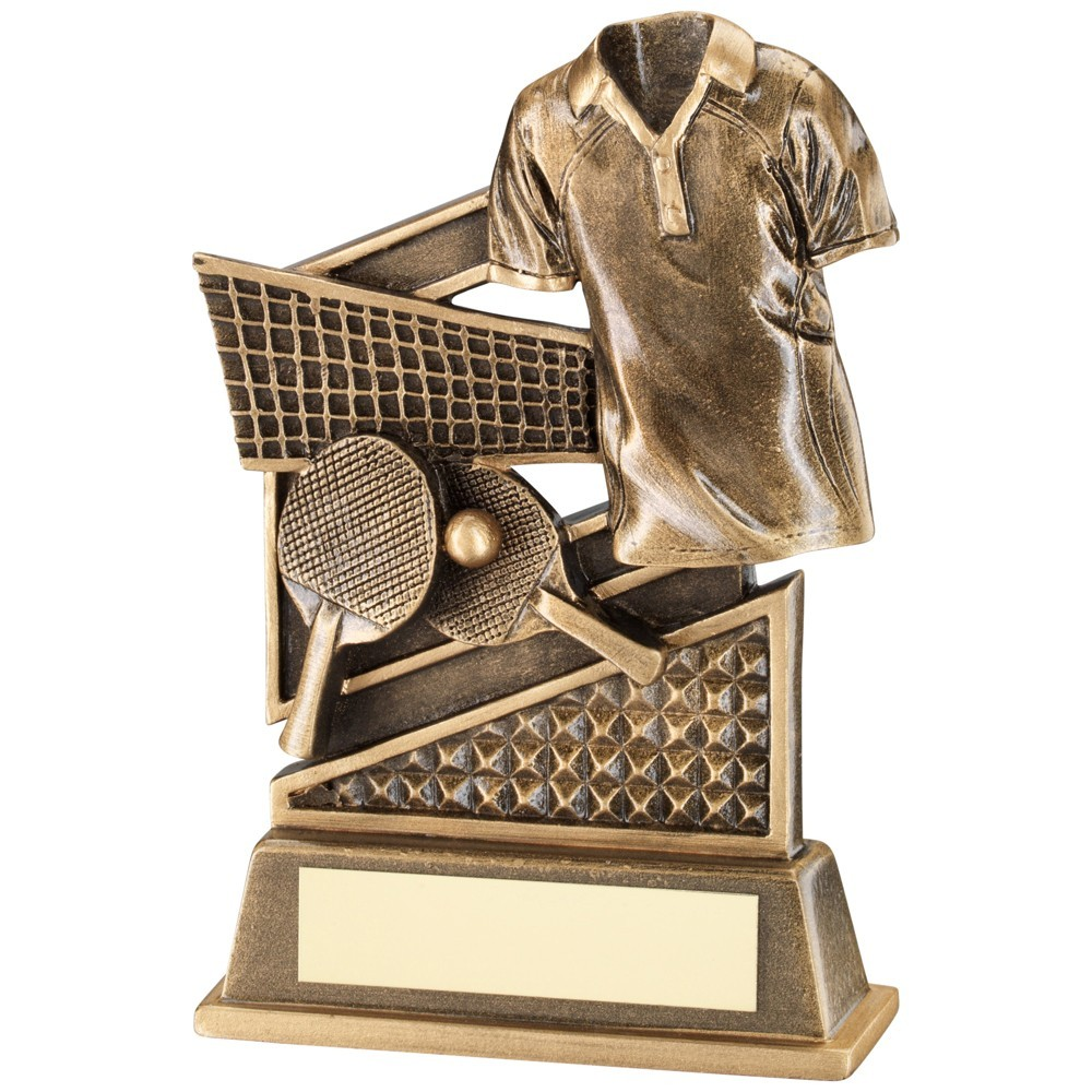 Bronze And Gold Table Tennis Diamond Series Trophy