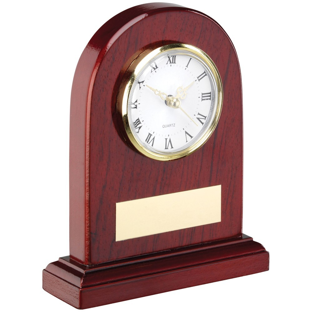 13cm Arched Wooden Clock Trophy