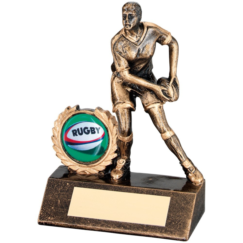 Lady Rugby Resin Award - Available in 3 sizes