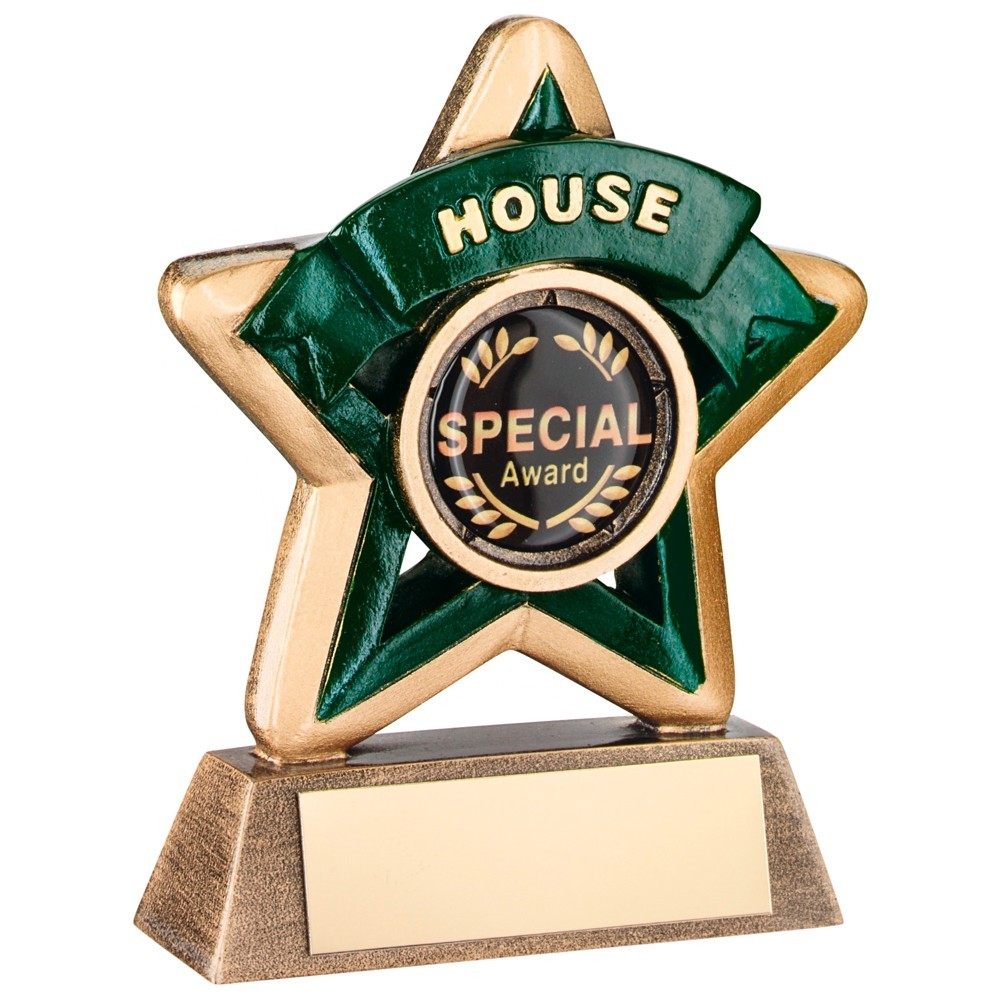 Super Two Toned Gold and Bronze House Mini Star Trophy - Available in 4 Colours