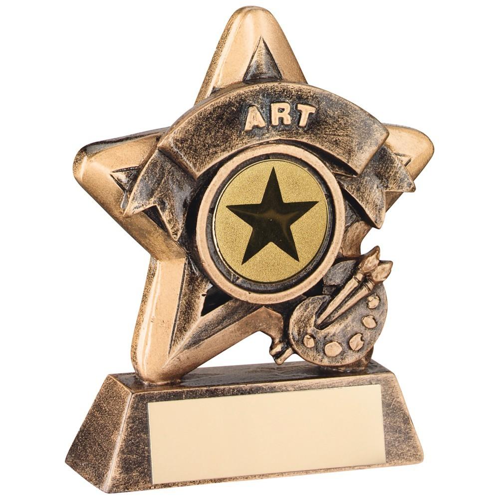 Terrific Bronze and Gold Art Mini Star Trophy