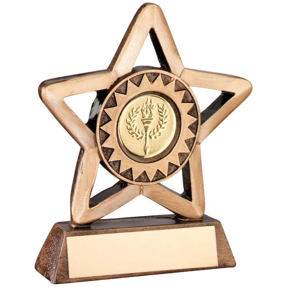 9.5cm Bronze & Gold Resin Generic Mini Star Trophy