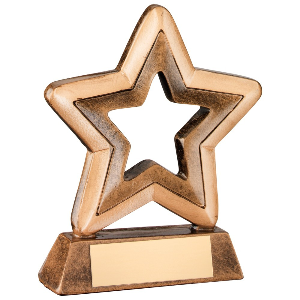 Bronze & Gold Resin Generic Mini Star Trophy