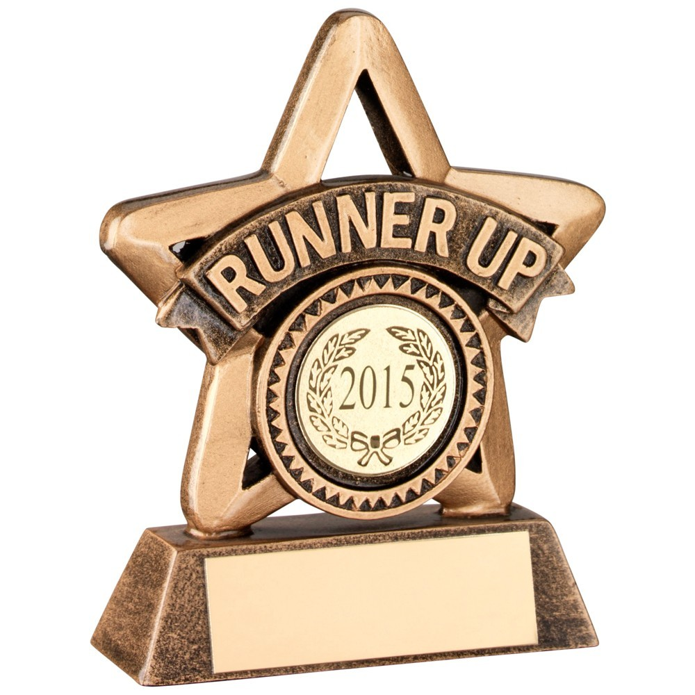11cm Bronze & Gold Resin 'Winner' Mini Star Trophy