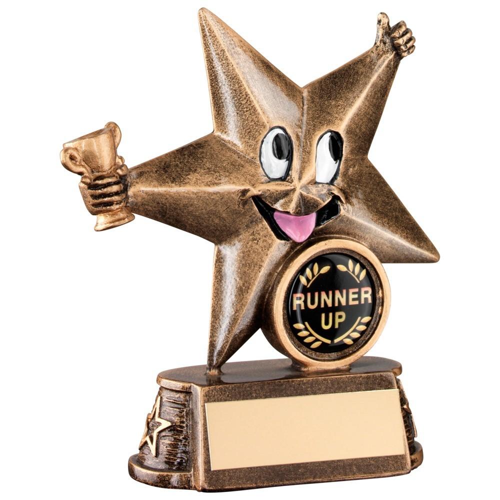11.5cm Bronze & Gold Resin Generic 'Comic Star' Figure Trophy - 4.5In