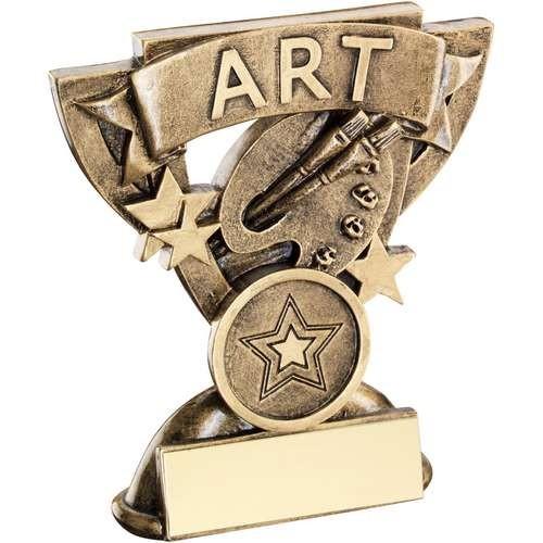 9.5cm Brz/Gold Art Mini Cup Trophy