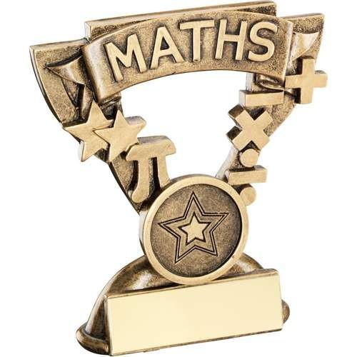 9.5cm Brz/Gold Maths Mini Cup Trophy