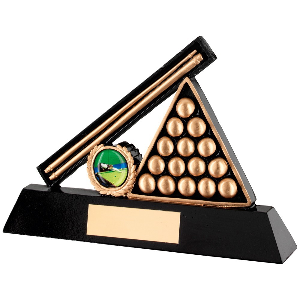 Black And Gold Resin Pool And Snooker Trophy