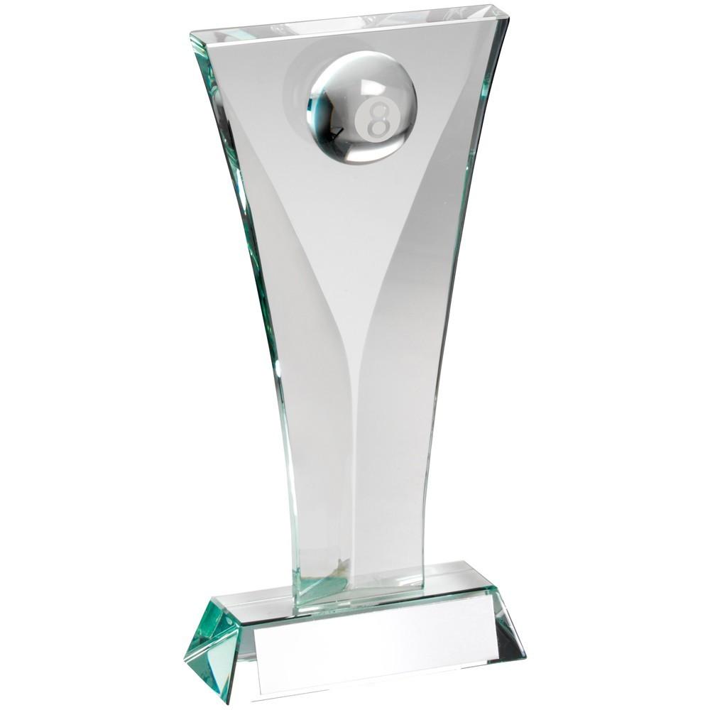 Jade Glass Pool Plaque Trophy