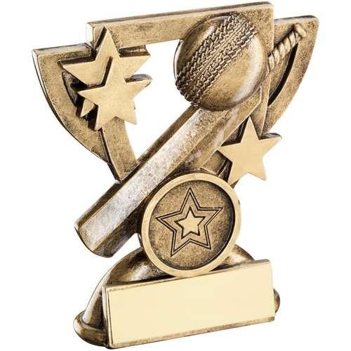 9.5cm Brz/Gold Cricket Mini Cup Trophy