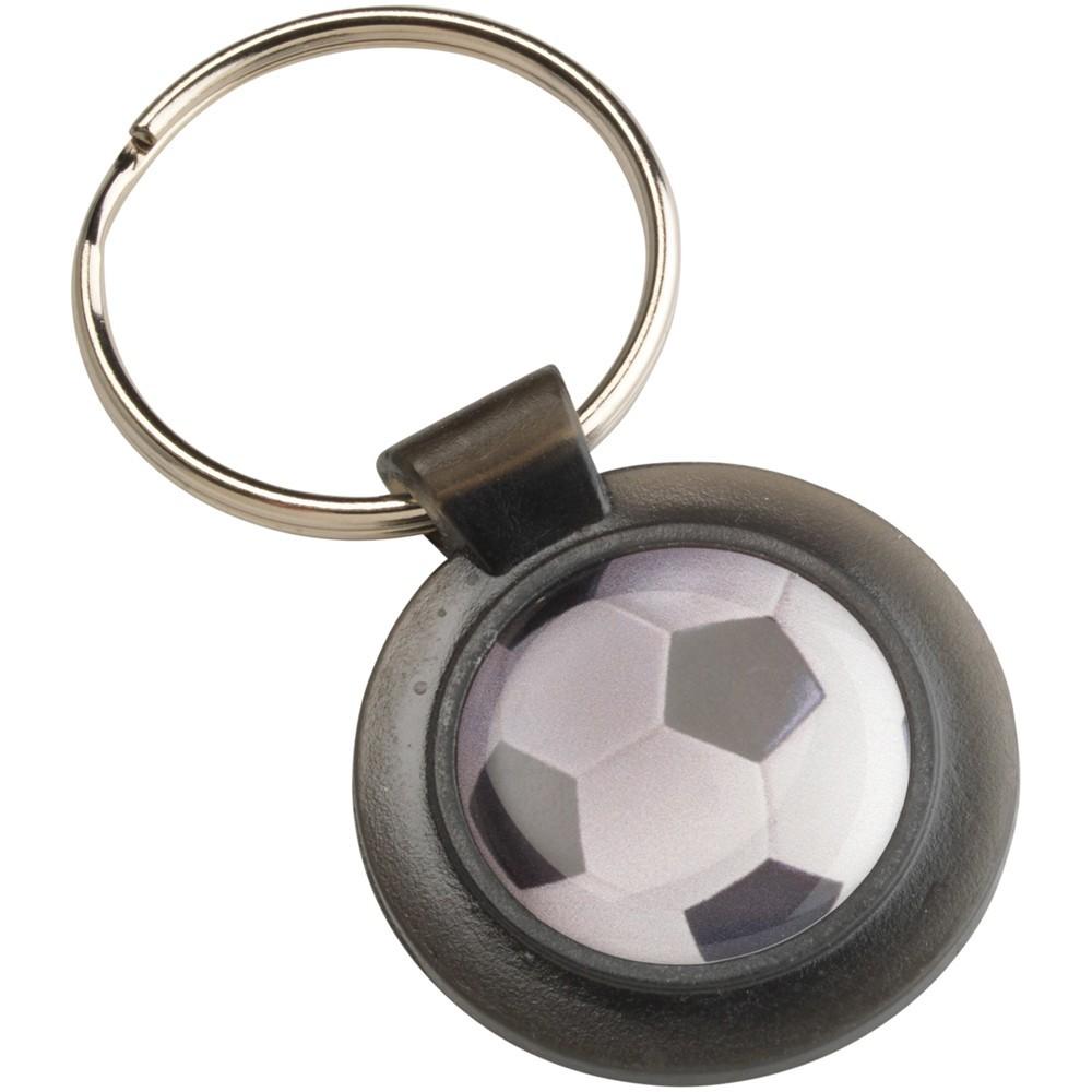 4cm Round Keyring - Black